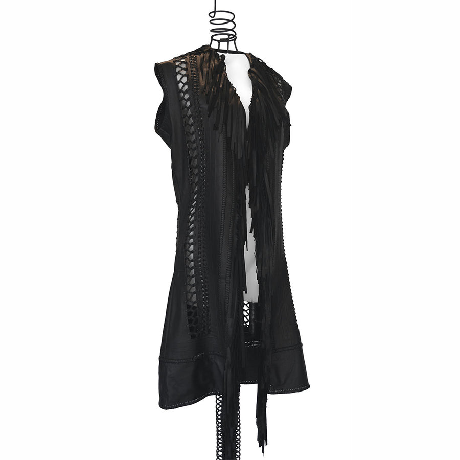 Empress Lexa | Leather Long Vest - Patricia Bos