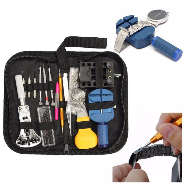 144Pcs Watch Tools Watch Opener Remover Spring Bar Repair Pry Screwdriver Clock Watch Repair Tool Kit Watchmaker Tools Parts