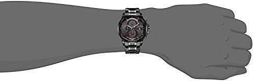 CADISEN Men's Sport Military Chronograph Casual Waterproof Analog Quartz Watch with Stainless Steel Strap