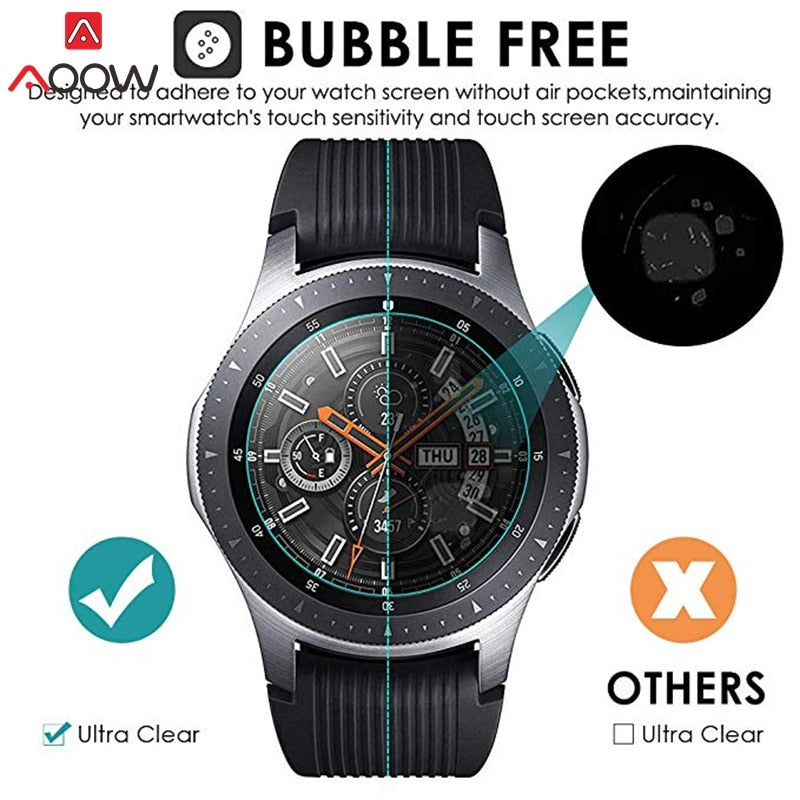 3pcs For Samsung Galaxy Watch 42mm 46mm Tempered Glass Screen Protector Protective Film Guard Anti Explosion Anti shatter
