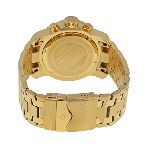Invicta Men's 0074 pro Diver Analog Japanese Quartz 18k Gold-Plated Stainless Steel Watch