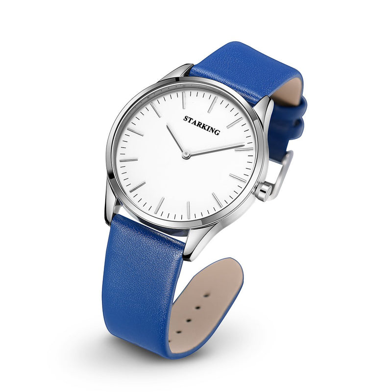 STARKING Men's Minimalist Watches Leather TM0908 Thin Japanese Quartz Waterproof Casual Dress Watch