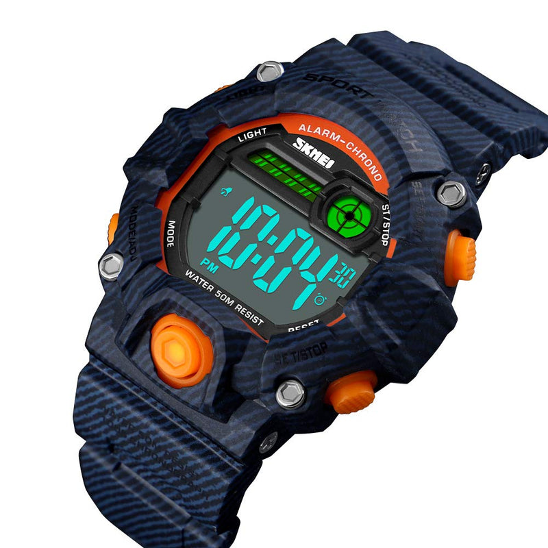 Boys Camouflage LED Sports Watch,Waterproof Digital Electronic Casual Military Wrist Kids Sports Watch with Silicone Band Luminous Alarm Stopwatch Girls Watches