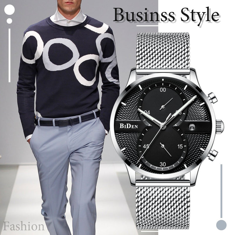 Mens Wrist Watch Luxury Chronograph Waterproof Date Analog Quartz Business Casual Dress Sports Wristwatch Watches