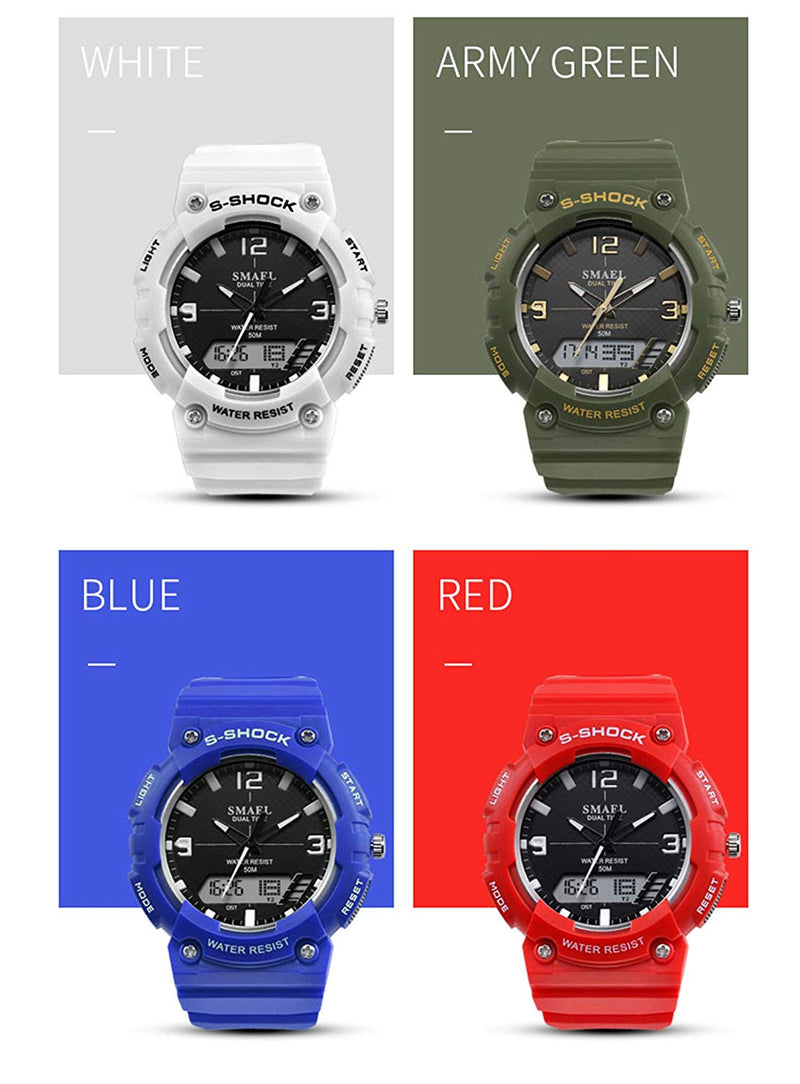 Clearance Price Men's Analog Display LED Watches S-Shock Military Multifunctional Waterproof Quartz Sport Wrist Watch Clearance Price: 25.98/2 Pieces, The Payment was Successful, we refunded 4 Dollar