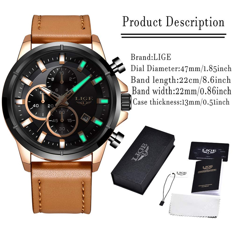 Watch Men Sport Quartz Clock Mens Leather Dress Watches Top Brand Luxury Business Waterproof Wristwatch Black … … … … …