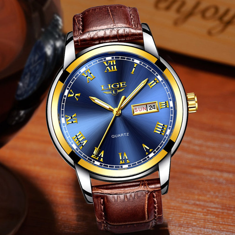 Watches,Mens Full Stainless Steel Luminous Quartz Watch Fashion Casual Business Dress Wristwatch Waterproof 30M Water …
