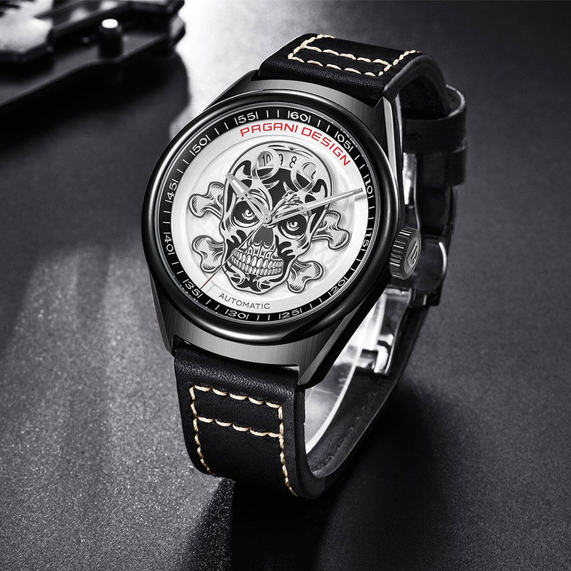 Pagani Design Men's Classic Cool Mechanical Watches Waterproof Leather Band Automatic Watch for Men