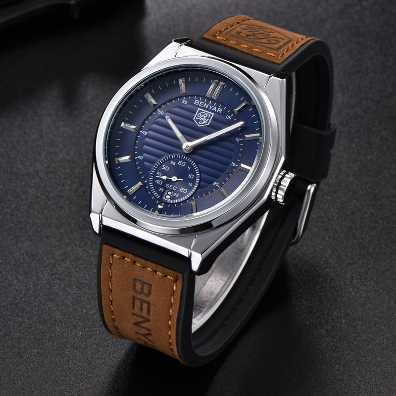 BENYAR Watches Men's Fashion Business Quartz Watch with Classical Casual Wrist Watch for Men