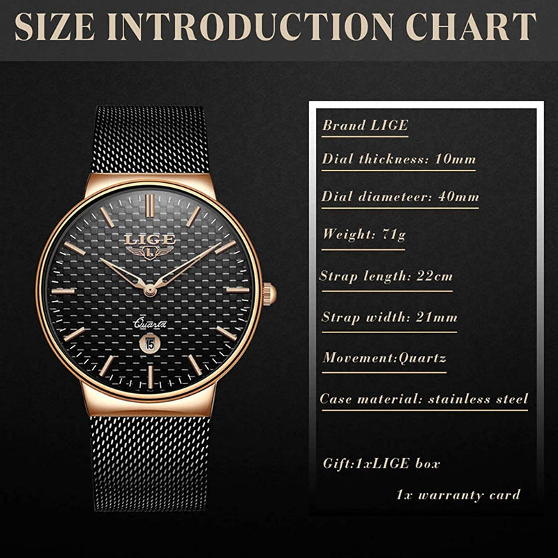 Men's Watches Fashion Simple Watches Ultra Thin Wristwatches Waterproof Quartz Women Watches Chronograph Watch for Men