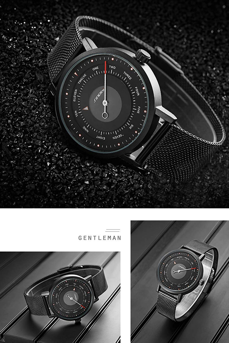 SINOBI Business Watches Men Fashion Original Design Watch Men Steel Mesh Men's Watch Clock Relogio Masculino Creative Wristwatch