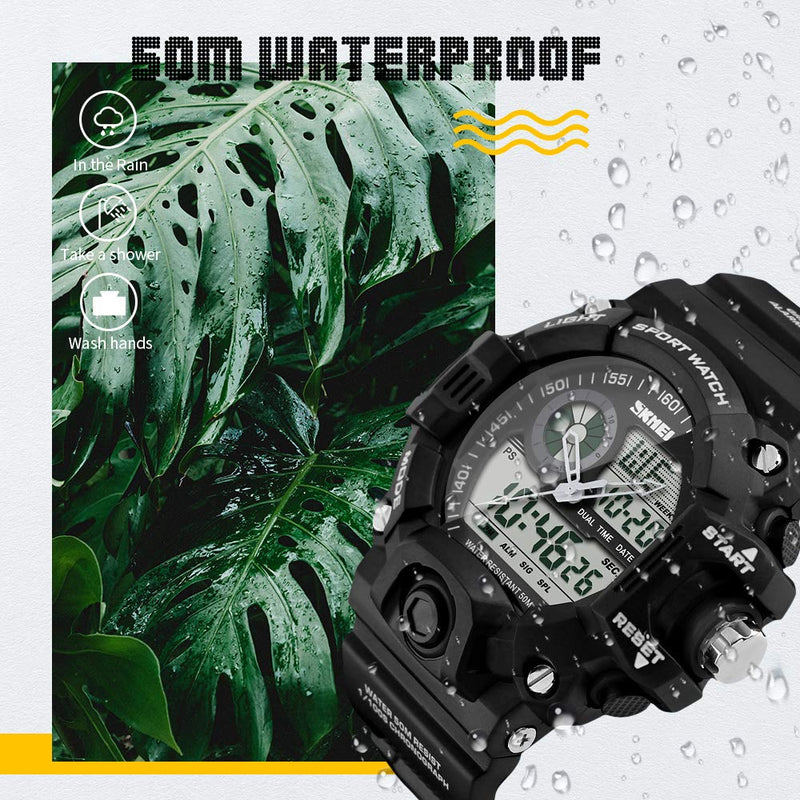 Camouflage Green Sports Military Style Watch