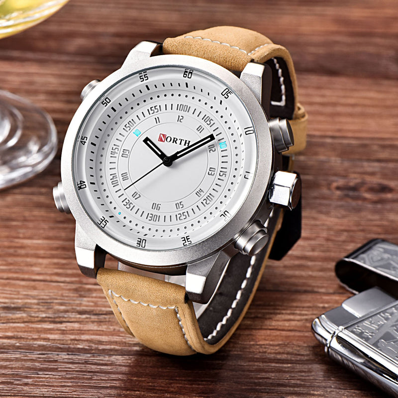 Mens Watch, Military Chronograph Sports Watches for Men, Fashion Luxury Waterproof Silicone Wristwatch