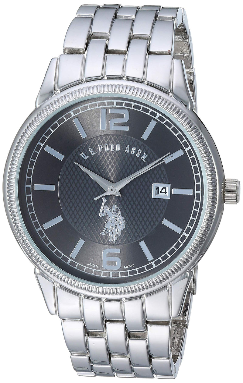U.S. Polo Assn. Men's Analog-Quartz Watch with Alloy Strap, Silver, 20.6 (Model: USC80304)