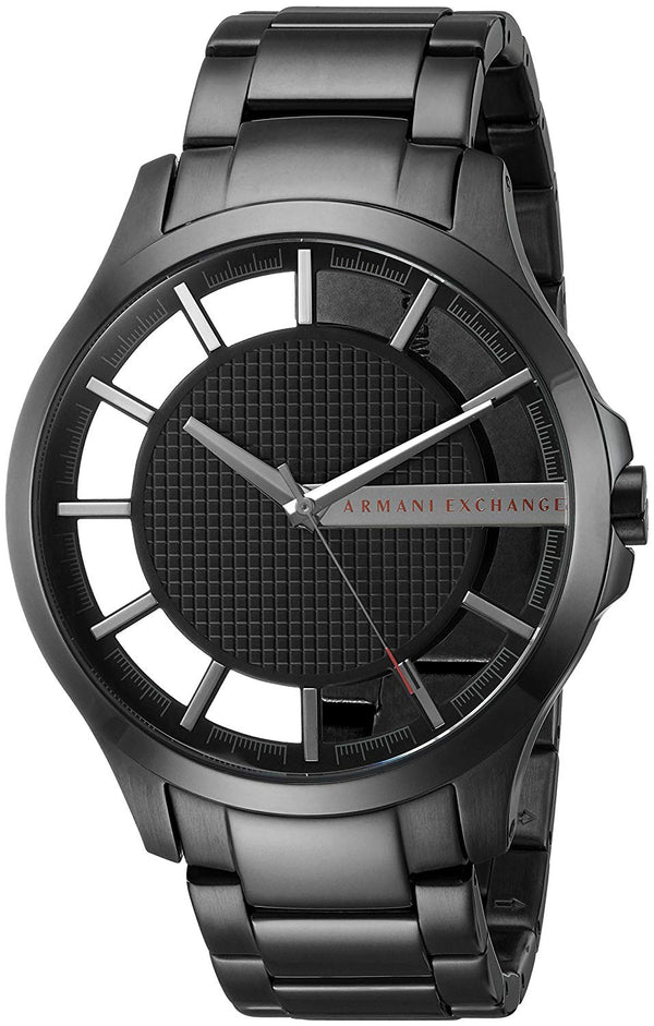 A|X Armani Exchange Men's Black IP Stainless Steel Watch
