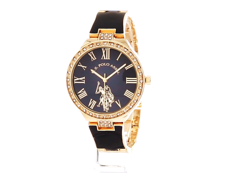 U.S. Polo Assn. Women's Analog-Quartz Watch with Alloy Strap, Gold, 14 (Model: USC40320)