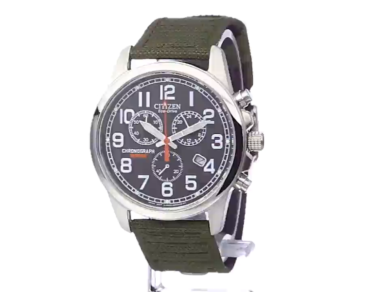 Citizen Watches Men's AT0200-05E Eco-Drive Chronograph Canvas Watch
