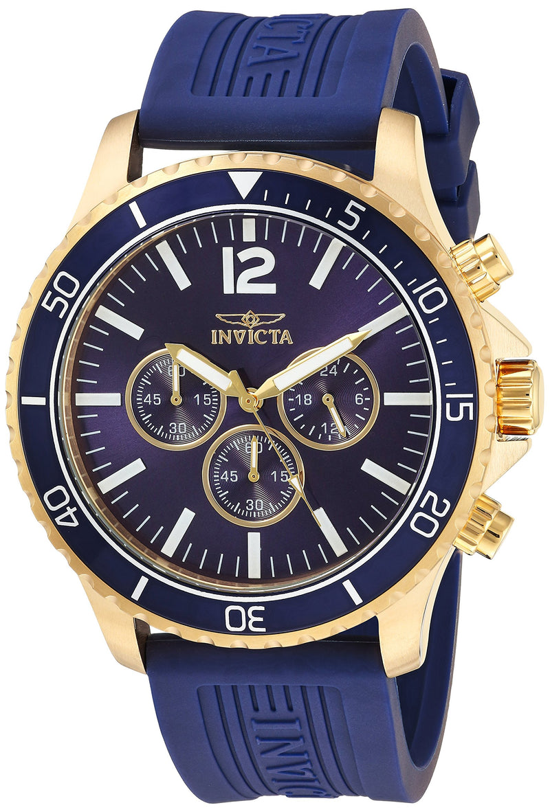 Invicta Men's Pro Diver Stainless Steel Quartz Watch with Polyurethane Strap, Blue, 24 (Model: 24392)