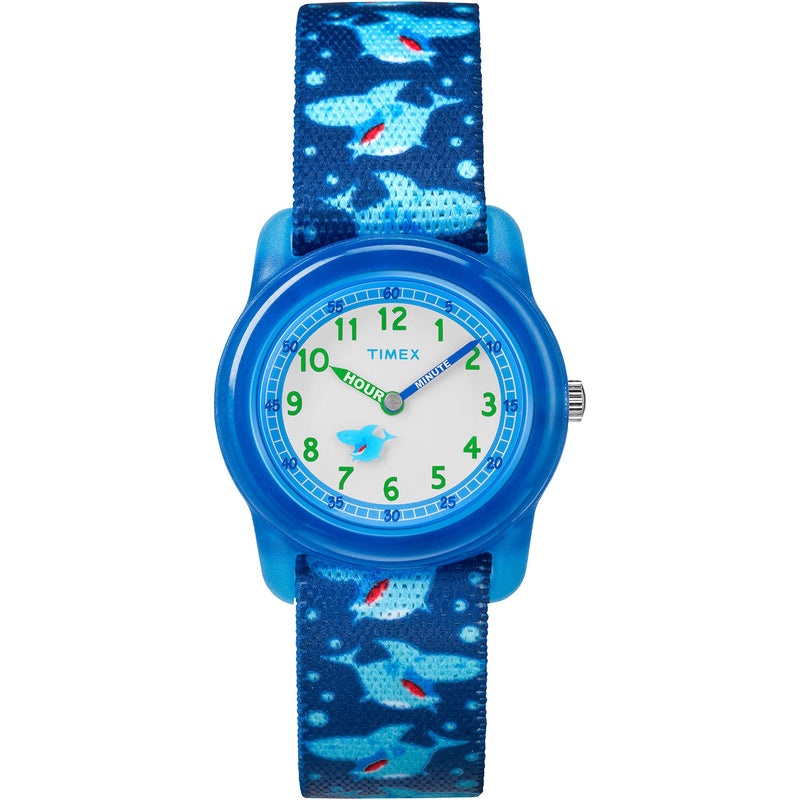 Timex Boys Time Machines Analog Elastic Fabric Strap Watch