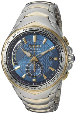 Seiko Men's Coutura Stainless Steel Radio Sync Solar Watch