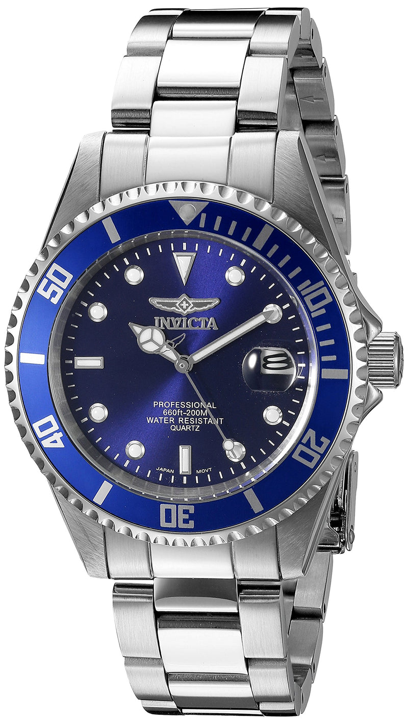 Invicta Men's 9204OB Pro Diver Analog Display Quartz Silver Watch