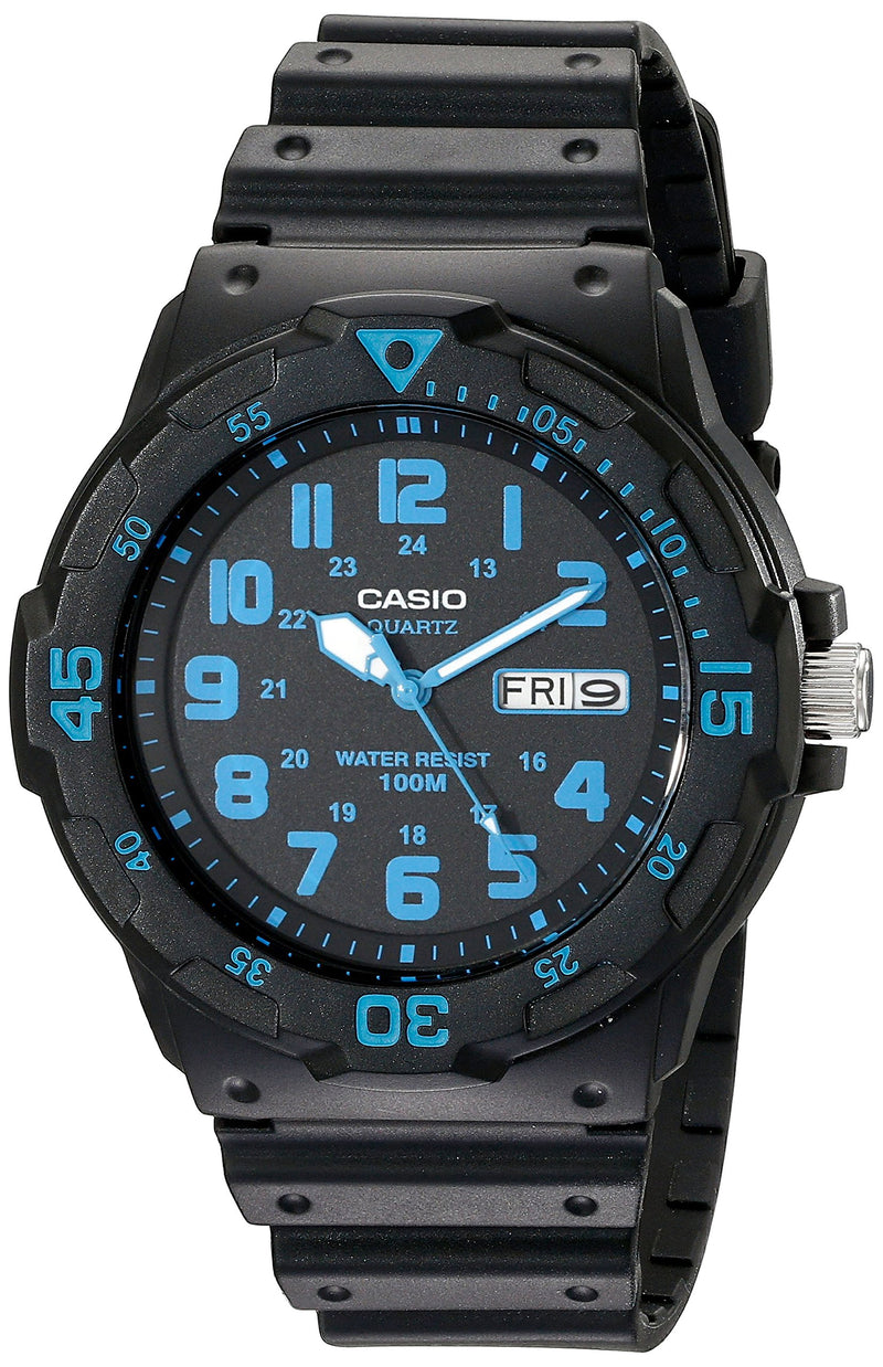 Casio Unisex MRW200H-2BV Neo-Display Black Watch with Resin Band
