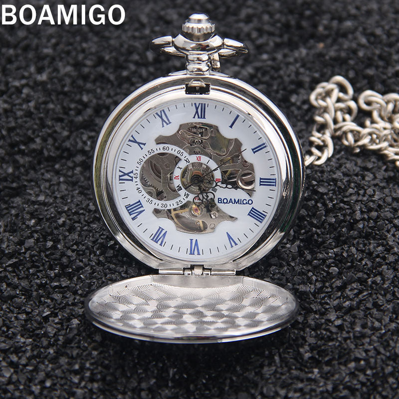 Russian Vintage Silver Soviet BOLSHEVIK Mechanical  Pocket Watch