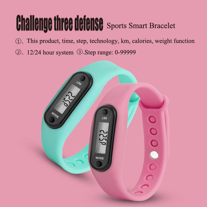 Digital LCD Walking Distance Pedometer Run Step Walking Distance Calorie Counter Wrist Women&Men Sport Fitness Watch Bracelet