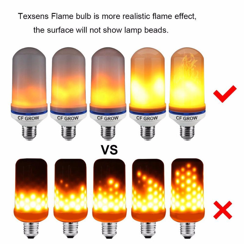 E26 E27 LED Flame Effect Fire Light Bulb