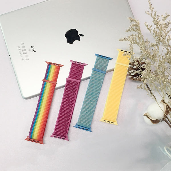 Apple Watch band  iwatch band 42mm 44mm 38mm 40mm Sport Nylon loop bracelet