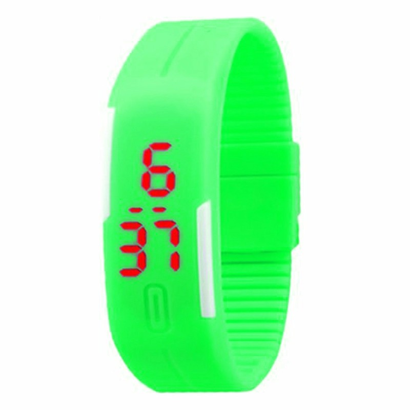 Unisex Watches LED Digital Electronic Creative Calendar Colorful Rubber Smart