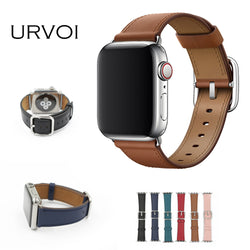 URVOI Classic Buckle Band for Apple Watch series 4 3 2 1 strap for iwatch calf leather with square buckle modern design GEN.2