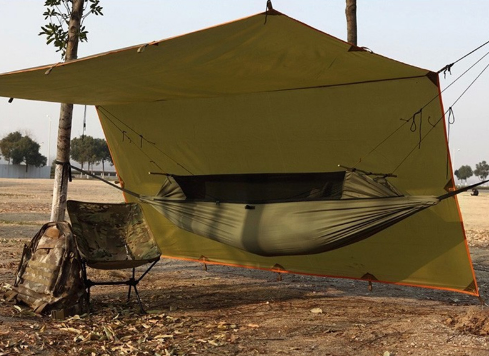 Hammock Tent With Anti Mosquito Net Mesh Portable For Camping
