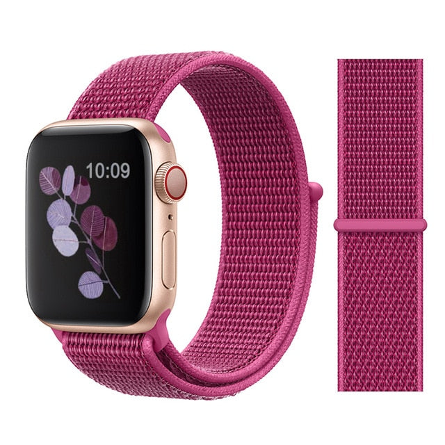 FASHION Sport Bands Compatible with Apple Watch Band 38mm 42mm Soft Breathable Woven Nylon Replacement Sport Loop Band for Apple Watch Series 3 Series 2 Series 1