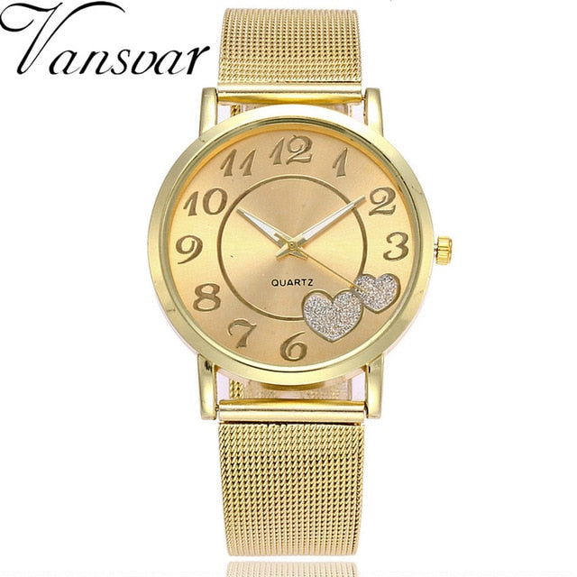 Vansoar Women  Fashion  Wrist WatchesWatch Stainless Steel Strap Pin Buckle