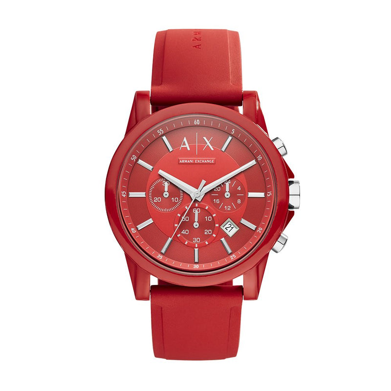 AX Armani Exchange Men's Chronograph Silicone Watch