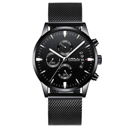 CRRJU Men's Quartz Watches Waterproof Calendar Slim Watch for Men