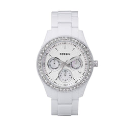 Fossil Women's Stella Stainless Steel Glitz and Resin Casual Quartz  Watch