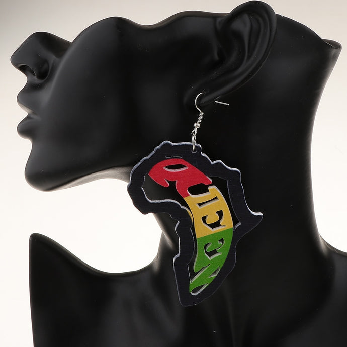 African Queen Pendant Earrings