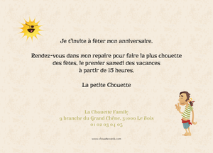 Carte d'invitation A l'abordage - Chouette Cards