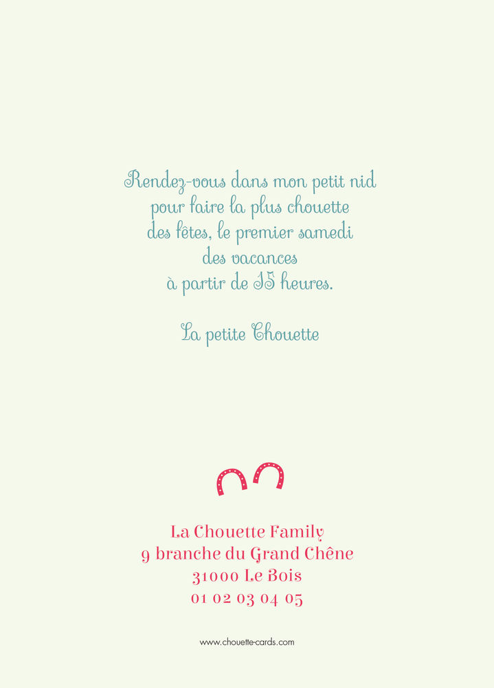 Carte d'invitation Cheval Fer - Chouette Cards