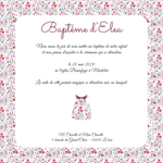 Faire-part de baptême Liberty Photo Robe - Chouette Cards