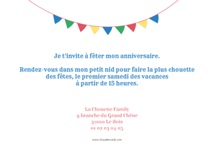 Carte d'invitation Festif blanc - Chouette Cards