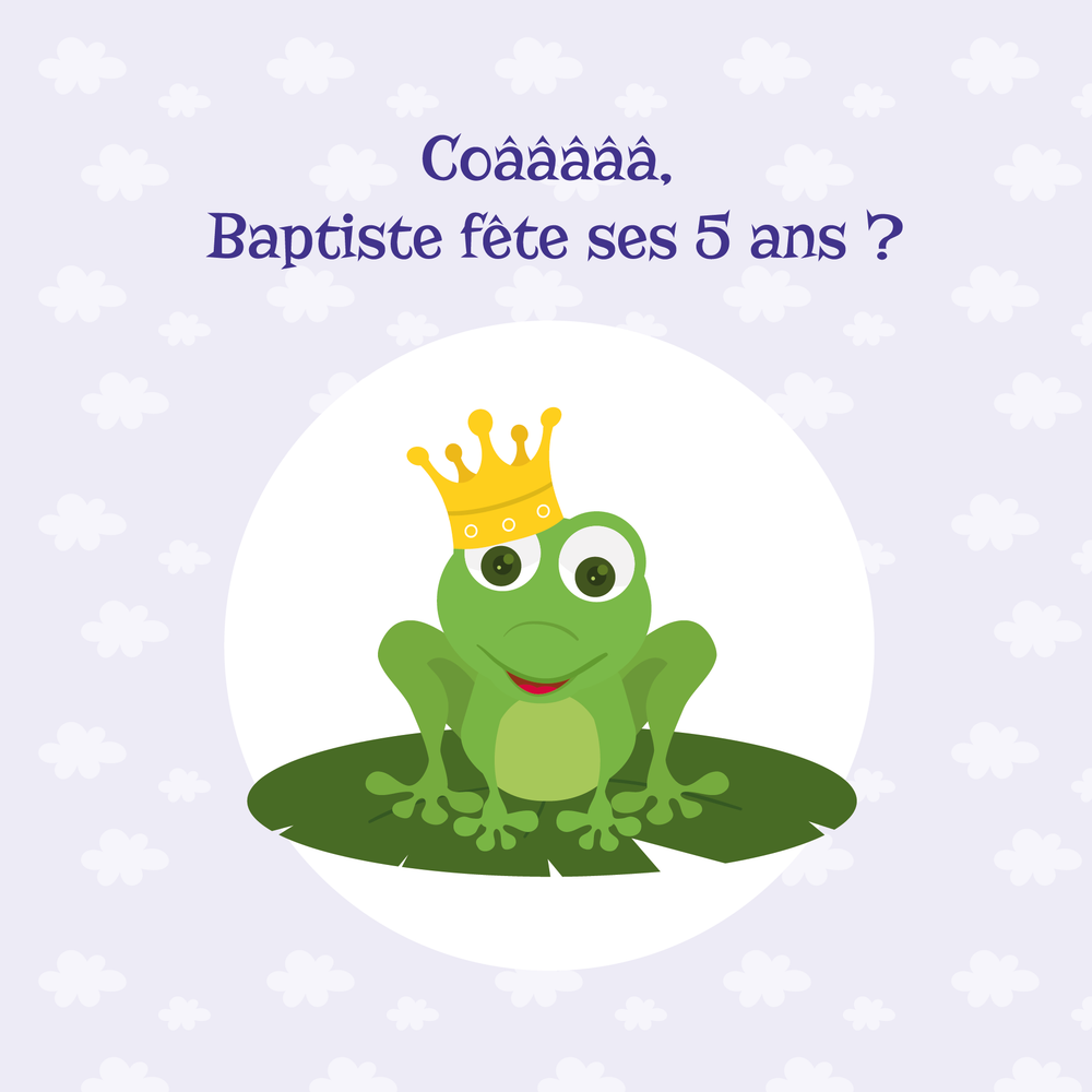 Carte d'invitation Grenouille