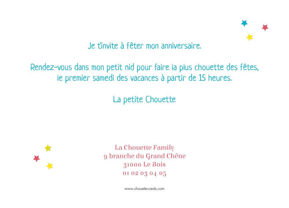 Carte d'invitation Photo Fête Rayures - Chouette Cards