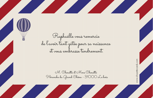Carte de remerciements Air Mail