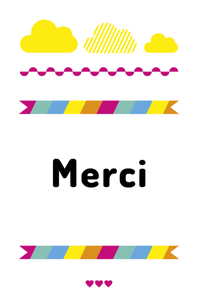 Carte de remerciements Couleurs pop - Chouette Cards