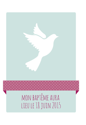 Faire-part de baptême Colombe - Chouette Cards