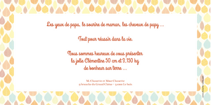 Faire-Part de naissance Vintage Feuille orange - Chouette Cards