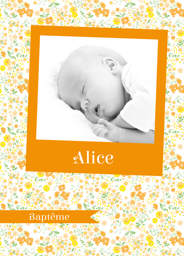 Faire-part de baptême Photomaton Liberty - Chouette Cards
